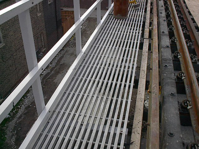Glass Reinforced Plastic Pultruded Grating at Train Station Transportation Market